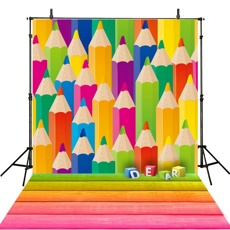 school backdrops kids photography backgrounds books 5x7 vinyl photo backdrops for teens colorful pencil photo booth props large school party backdrops for photography