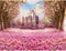 Photography Background Floral Pink Backdrop for Photo Studio Princess baby shower Fantasy Castle Rainbow photocall party