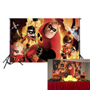 Incredibles Movie Theme Photography Backdrops Superhero Vinyl Photography For Backdrop Digital Printed Photo Backgrounds For Photo Studio