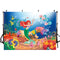Ariel Mermaid photography Background Underwater Theme Little Mermaid Birthday Party Baby Shower Castle Corals balloon Ariel Princess Cartoon Decor Backdrop Photo Studio