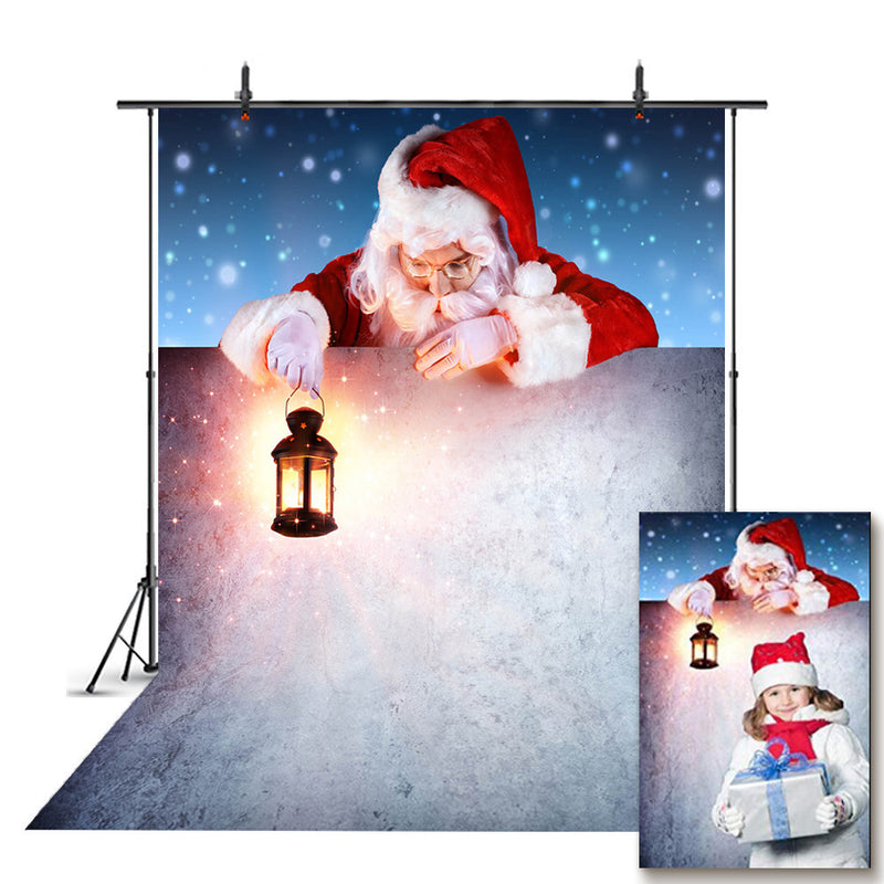 Snow Wall Photo Backdrop Christmas Santa Photography Background Merry Xmas Photo Booth Props Child Party Backdrops Night
