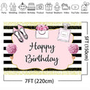 Spa Party Backdrop for Photography Happy Birthday Theme Background for Photo Studio Girl Party Decoration Supplies Vinyl Cloth