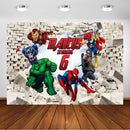 Superhero Avengers Iron Man Backdrop Children Avengers Birthday Party Photo Customized Decorations Banner Photography Background
