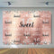 Sweet 16 Backdrop for Photography Girl Children Happy Birthday Theme Party Background for Photo Booth Decoration Supplies Prop