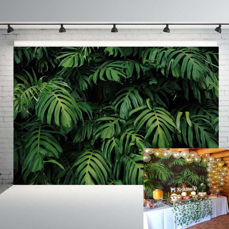Tropical Forest Green Plants Leaves Foliage Photography Backdrops Photographic Backgrounds Birthday Photocall Photo Props