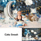 Twinkle Twinkle Little Star Cake Smash Backdrop Newborn Kids Birthday Cake Smash Portrait Photoshoots Blue Balloons and Clouds