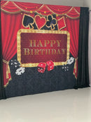 Casino Party Backdrop Poker Las Vegas Birthday Party Theme Casino Night Photography Background Decorations Props