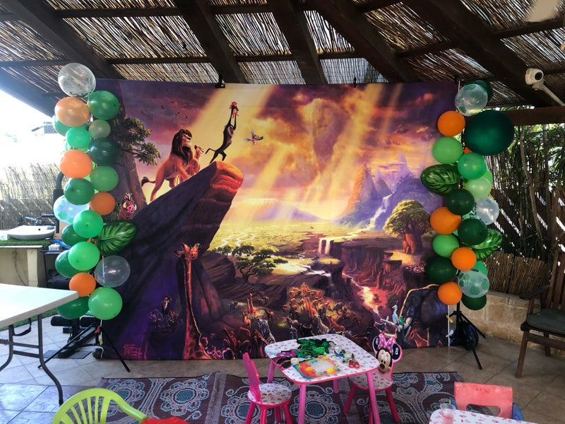 Photography Background The Lion King Simba Kids Birthday Backdrop Decor Photocall Backdrop Photo Studio Banner