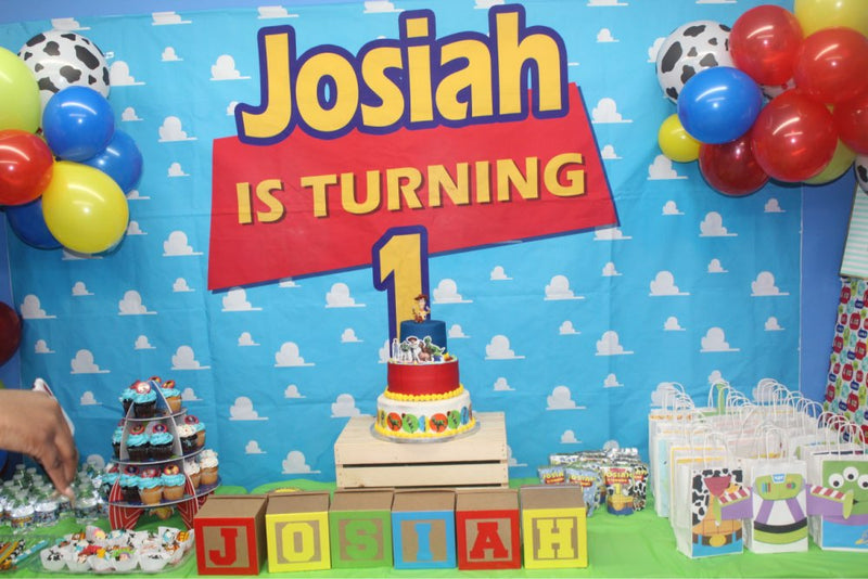 Customized Name Birthday Photo Background Toy Story Themed Jessie Invitation Party Cloud Children birthday banner Photo Studio Backdrop