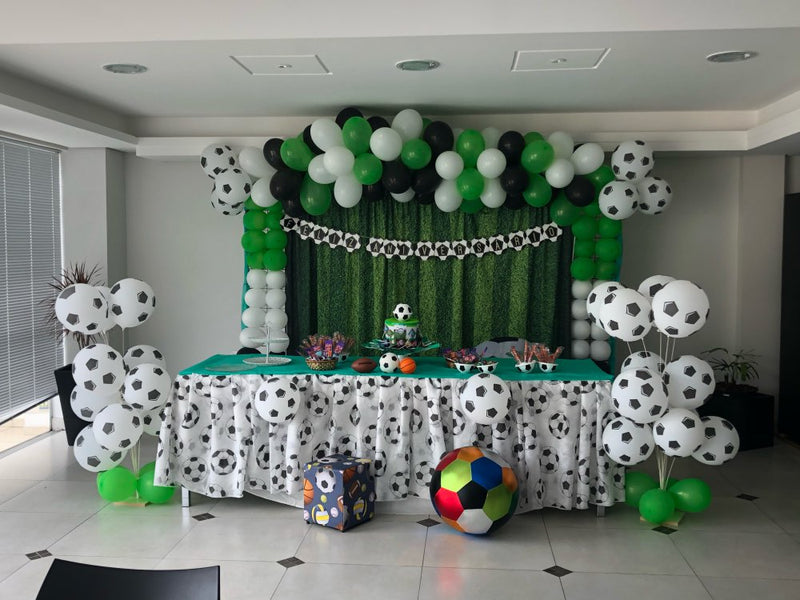 Photography Background Green Field Grass Soccer Party Backdrop Boy Baby Happy Birthday Party Decor Football Backdrop Photo Studio