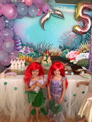Ariel Mermaid photography Background Underwater Theme Little Mermaid Birthday Party Baby Shower Shiny Fish Decor Backdrop Photo Studio