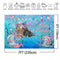 Under The Sea Little Mermaid Backdrop Shell Sea Grass Scales Ocean Photography Backdrops Baby Girl Birthday Party Decoration