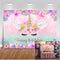 Unicorn Rainbow Backdrop for Photography Happy Birthday Background for Party Decoration Props Photo Booth Studio Wing