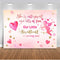 Valentine backdrop for party photography decoration red pink heart background for photo booth studio Cupid Valentine's Day prop
