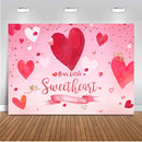 Valentine backdrop for photography Valentine's Day background for photo studio Red Heart Backdrops Pink Heart Sweetheart newborn