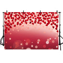 Valentine backdrop red heart background for photo booth stduio bokeh happy birthday theme backdrops newborn baby party decor