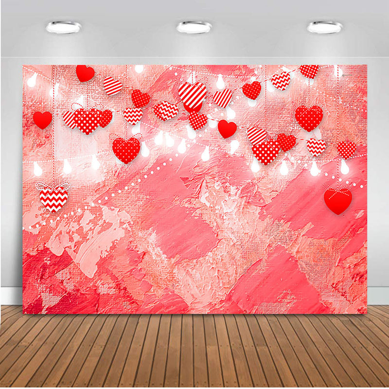 Valentine's backdrop for photography Red Heart Background for photo studio Glitter Bokeh Photocall Boda Back dorp Love Backdrops