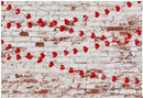 Valentines Day Photography Backdrop for Photo Studio Red Heart Brick Wall Background Wedding Birthday Kids Photoshoot