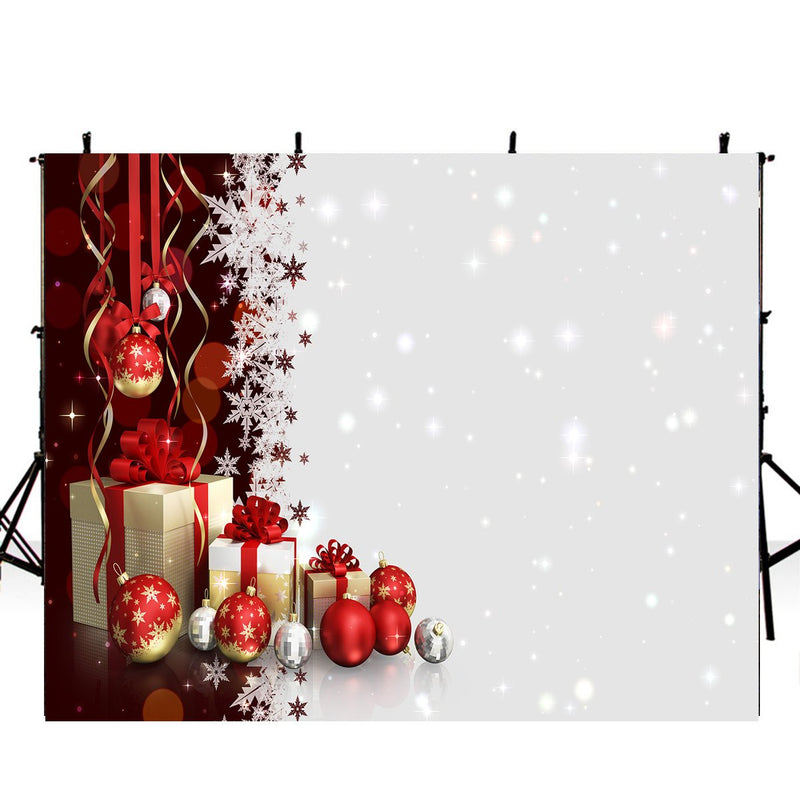 Happy New Year Photography Backdrops Christmas Background Backdrops Red White Snowflake Winter Props Xmas Vinyl photo Backdrop