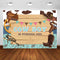 Western Theme Party Backdrop Cowboy Birthday Party Rustic Wild West Background for Photography Photo Booth Studio