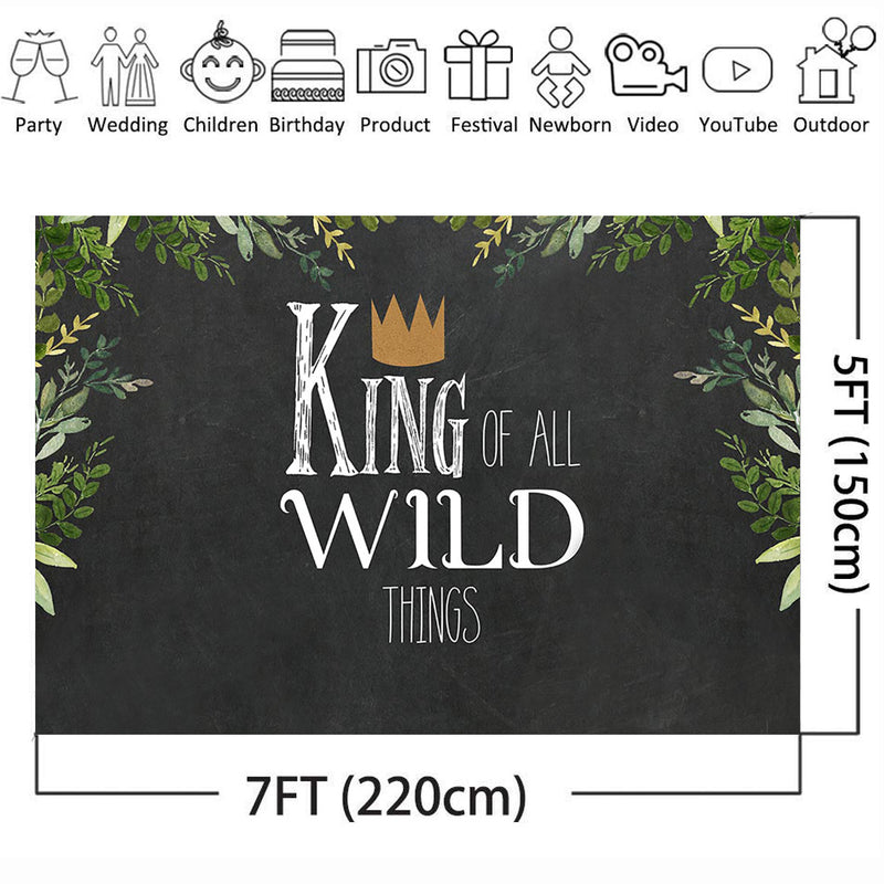Wild One 1st Birthday Party Backdrop Animals Themed Photography Background Jungle Safari Baby Boy Photo Booth Banner Decorations