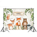 Wild One Background for Photo Studio Newborn Baby Shower Woodland Birthday Party Backdrop Decoration Banner Table Background