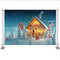 Winter House Christmas Backdrop for Photography Snowflake Background Kids Birthday Party New Year Party Decoration