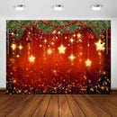 Winter New Year Christmas Backdrop Family Party Birthday Glitter Red Merry Xmas Decoration Photography Background Photo Booth