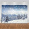 Winter Photography Backdrop Photocall Winter Snow Scene Photo Background for Photo Studio Mountain Range Bokeh Christmas Props