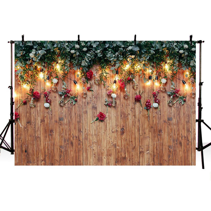 Wood floor backdrop for photography Valentine's Day background for photo booth studio portrait head shoot wedding photocall