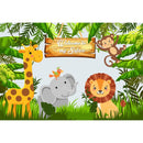 Woodland Jungle Safari Party Photo Backdrop Animals Forest Photography Background Happy Birthday Theme Party Decoration