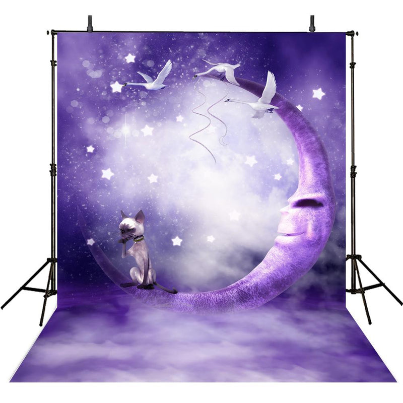 Purple Moon Photography Backdrops Baby Backdrop Diamond Shine Twinkle Twinkle Little Star Photography Background For Photo Studio