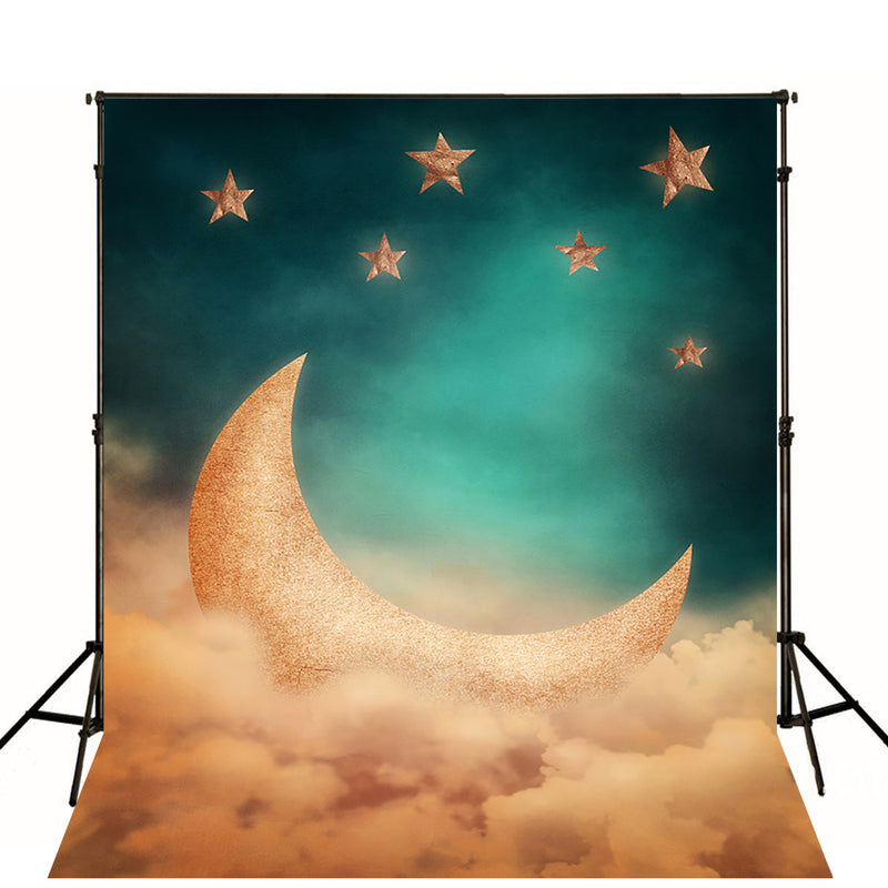 stars backdrop night sky photography backdrops stars and moon photo props 6x8ft twinkle twinkle little star backgrounds for baby shower love you to the moon and back photo booth props moon vinyl backdrops for photographer