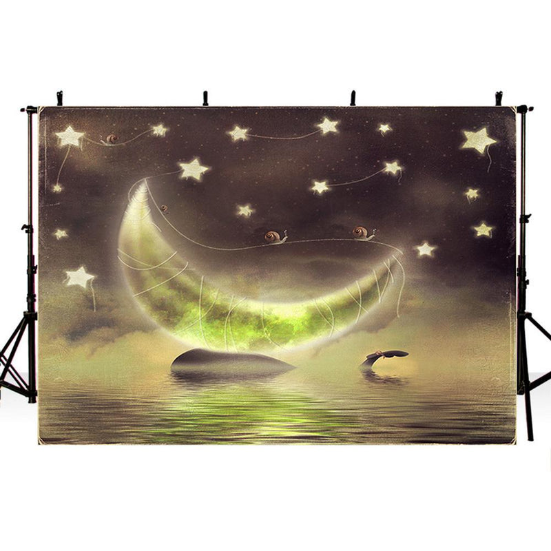 Twinkle Twinkle Little Star Background for Picture Baby Shower Photo Backdrop Moon Kids Party Banner Background Decor