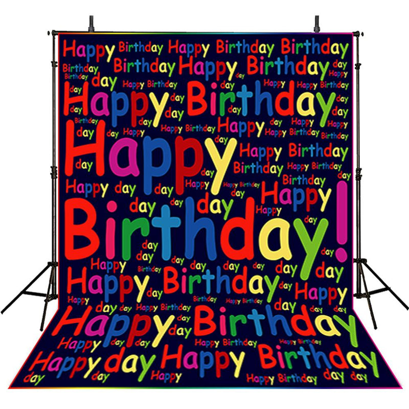 Happy Birthday Photography Backdrops Baby Shower Backdrop Kids Birthday Party Photography Background For Photo Studio