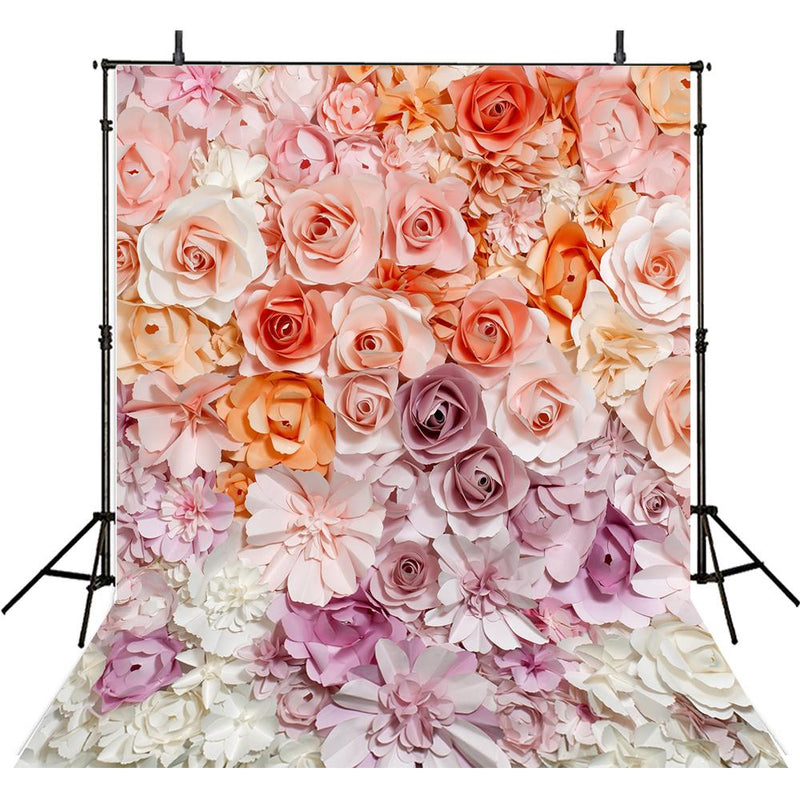 colorful flowers backdrop baby floral photo background for photography kids photo background vinyl