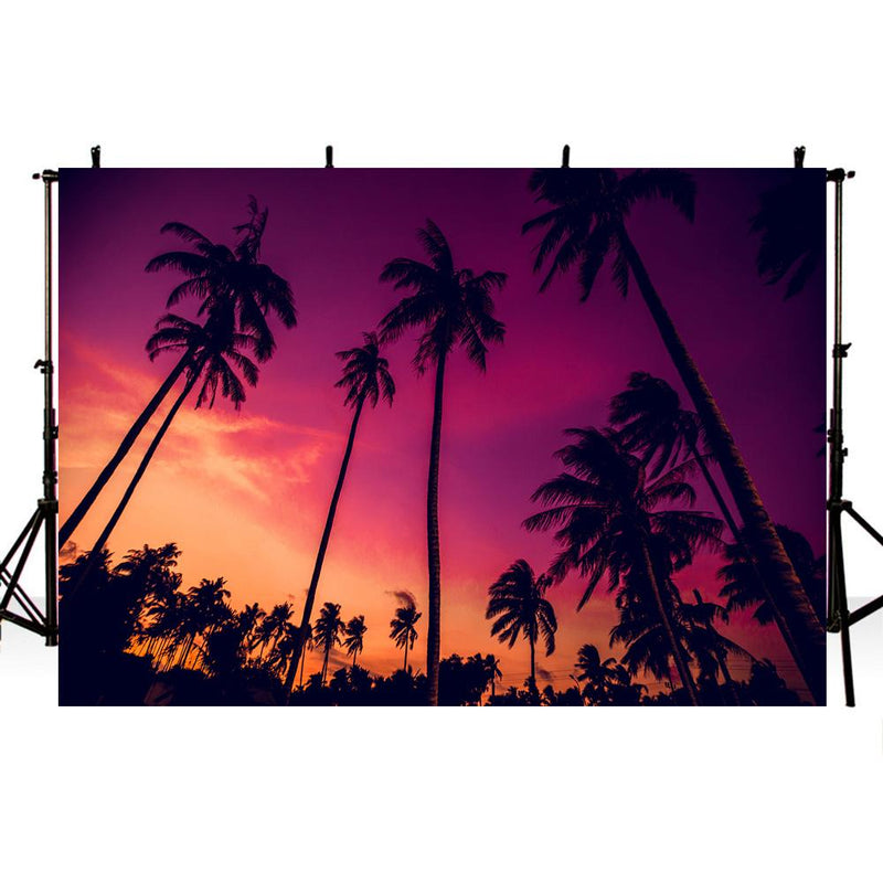 Hawaii Luau Photography Backdrops Sunset Holiday Background Backdrops Props Beach Wedding Vinyl photo Backdrop Girls