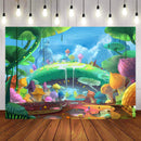 Cartoon for Kids Photography Backdrops Child Party Banner Background Backdrops Props Vinyl photo Backdrop Girls