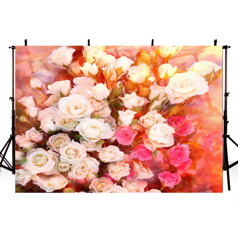 Colorful Flowers Photography Backdrops Floral Baby Newborn Party Banner Decoration Background Backdrops Props Vinyl photo Backdrop