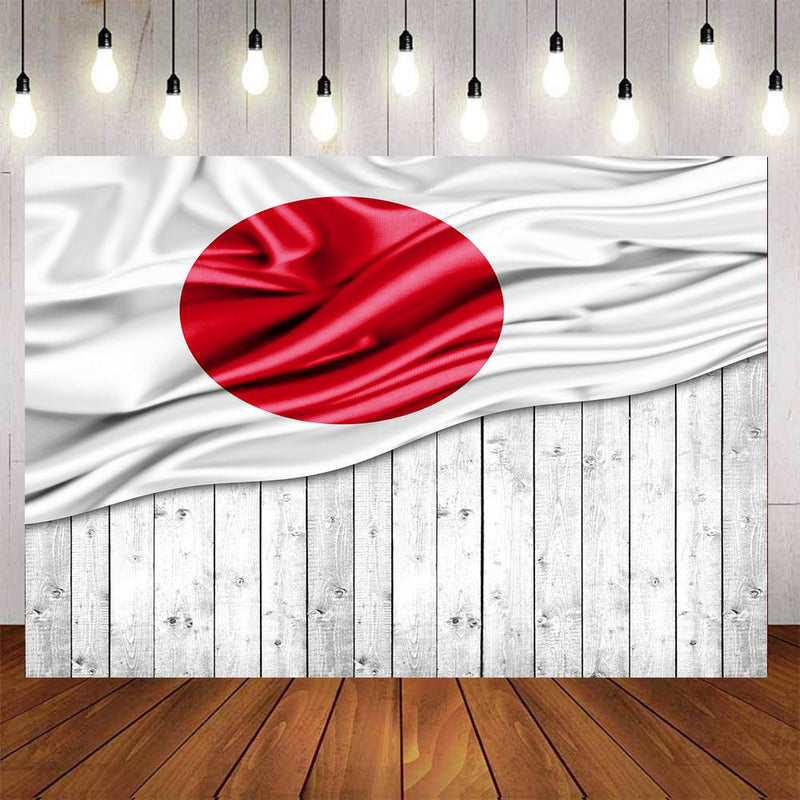 Japanese Flag Photography Backdrops Wood Floor Banner Background Backdrops Props Japan Flags Vinyl photo Backdrop