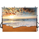 Sea Beach Sunset Photography Backdrops Hawaii Luau Summer Holidays Background Backdrops Props Ocean Vinyl photo Backdrop