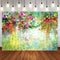 Colorful Flowers Photography Backdrops Floral Party Banner Decoration Background Backdrops Girls Vinyl photo Backdrop