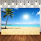 Hawaii Luau Photography Backdrops Tropical Sea Beach Background Backdrops Props Vinyl photo Backdrop