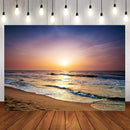 Hawaii Beach Photography Backdrops Ocean Sunset Background Backdrops Props Vinyl photo Backdrop