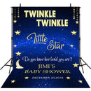 twinkle twinkle litter star photo backdrop customized name backdrops baby shower photo booth props twinkle stars backdrop for party photography backdrop navy blue stars
