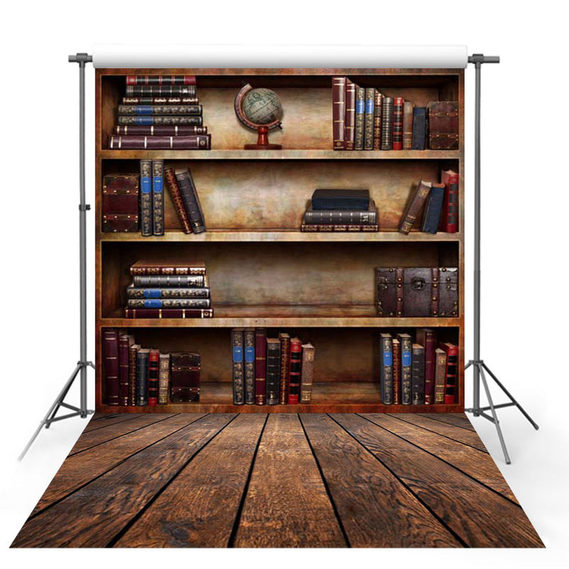 Back to School children photography backdrops bookshelf school student graduation season photo backdrop customize backgrounds for photo studio