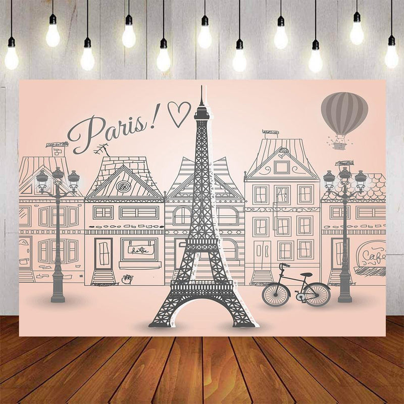 Eiffel Tower backdrop for photography Paris background for photo booth studio kids party banner photo backdrop