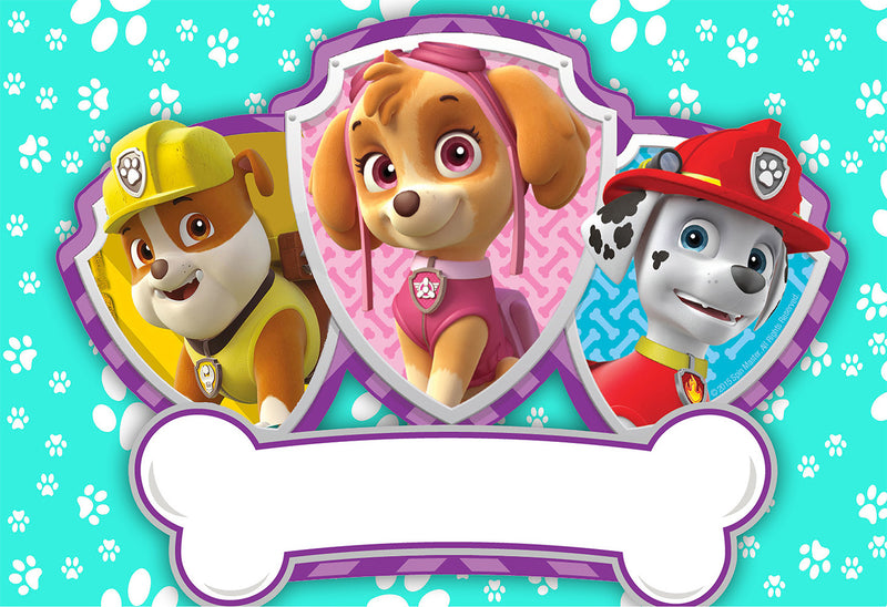 Paw Patrol Photography Backdrops Skye Marshall Rubble Background Kids Party Backdrops Photo Studio