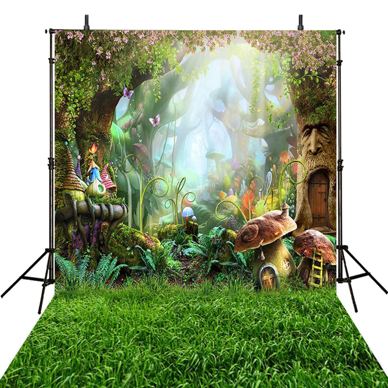 Mushroom Photography Backdrops Alice in Wonderland Enchanted Forest Backdrop For Photography Background For Photo Studio