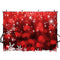new year red photo backdrop bokeh photography background Merry Christmas photo booth props white snow flake vinyl backdrops kids